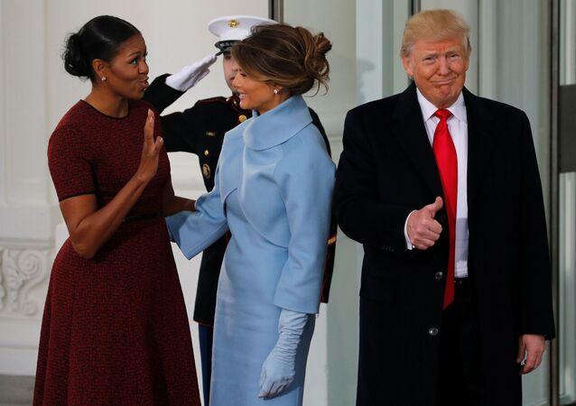 Donald Trump, Michelle Obamová a Melanie Trumpová