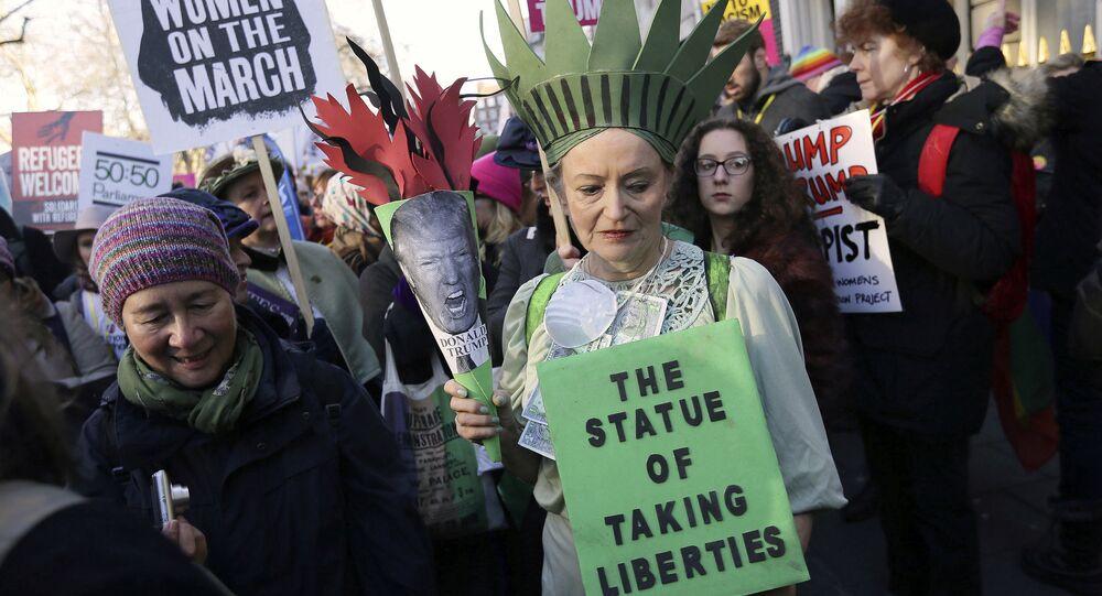 Ženská demonstrace v Londyně