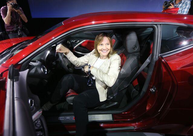 Generální ředitelka firmy General Motors Mary Barra.