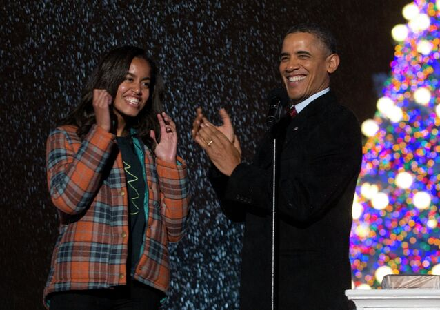 Barack Obama a jeho dcera Malia