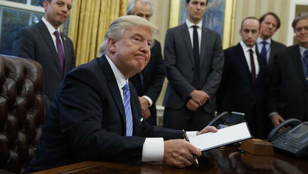 President Donald Trump v Bílém domě - Sputnik Česká republika