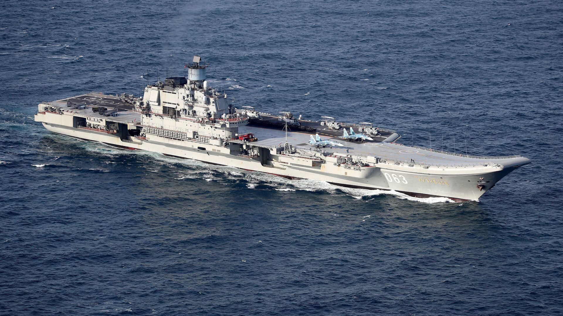 Британские ВМС и ВВС сопровождают российские корабли Петр Великий и Адмирал Кузнецов - Sputnik Česká republika, 1920, 21.04.2021