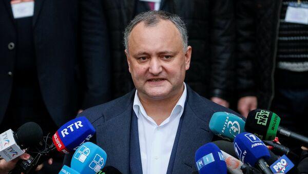 Moldavský prezident Igor Dodon - Sputnik Česká republika