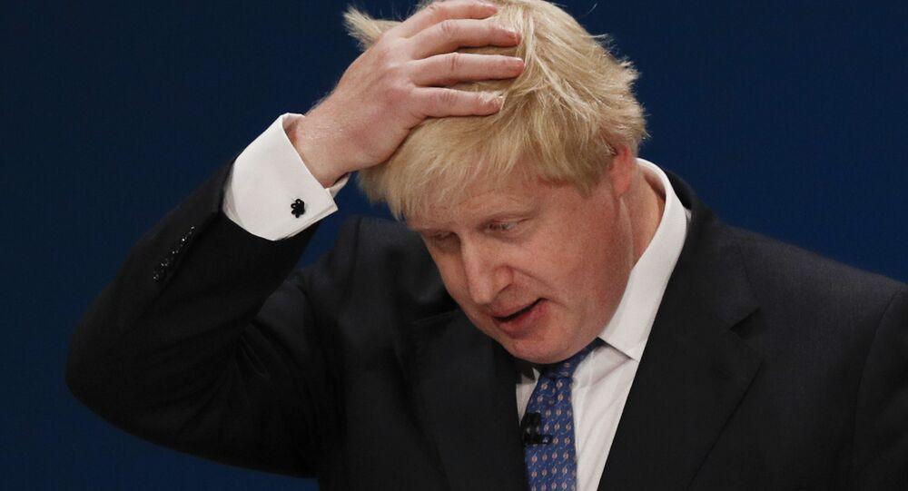 Ministr zahraničí Spojeného království Boris Johnson