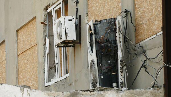 Následky ostřelování na Donbasu - Sputnik Česká republika