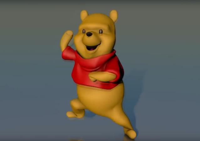 Tančící Medvídek Pú si podmanil sociální sítě