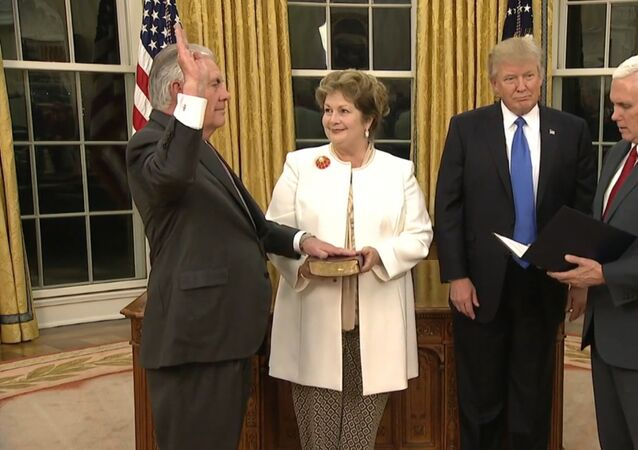 Přísaha Rexe Tillersona jako ministra zahraničí