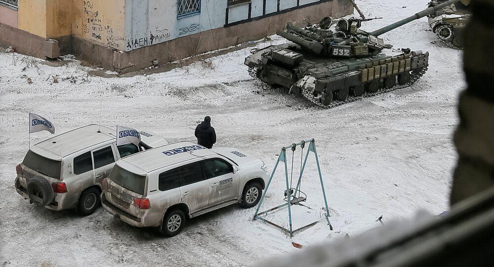 Ukrajinské tanky v Avdějevce