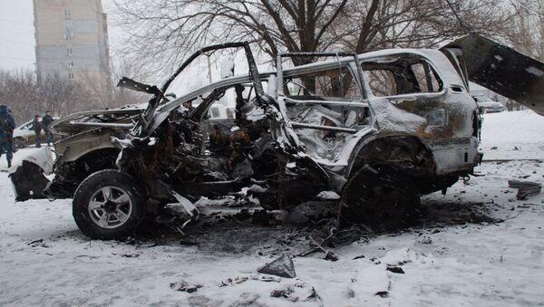 Auto náčelníka správy Lidové milice Olega Anaščenka - Sputnik Česká republika