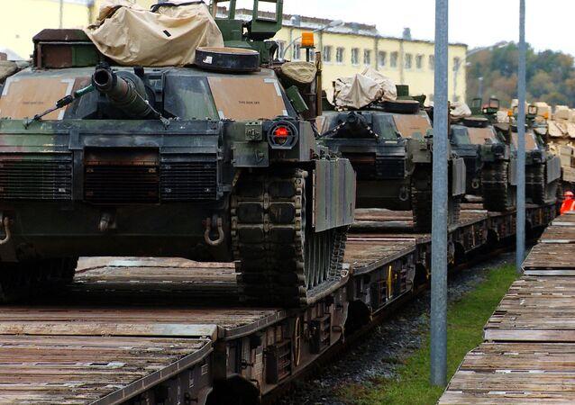 Americké tanky M1A2 Abrams. Ilustrační foto
