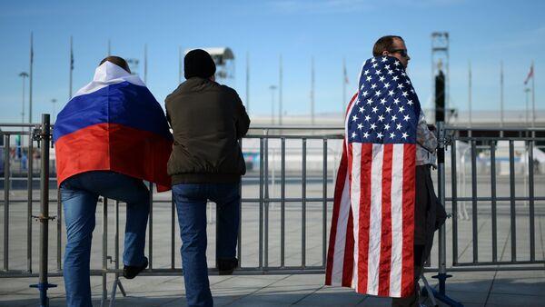 Ruská a americká vlajka - Sputnik Česká republika