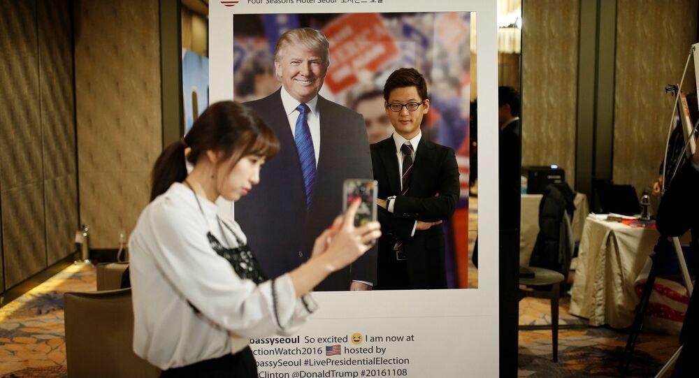 Plakát s Trumpem