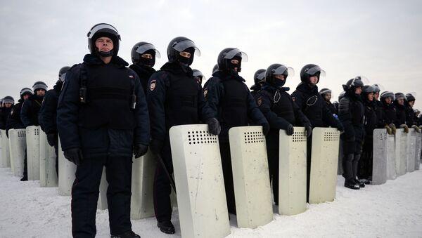 Cvičení Ruské národní gardy v Novosibirsku - Sputnik Česká republika