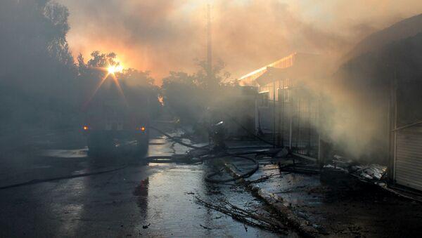 Požár v Doněcku (ilustrační foto) - Sputnik Česká republika