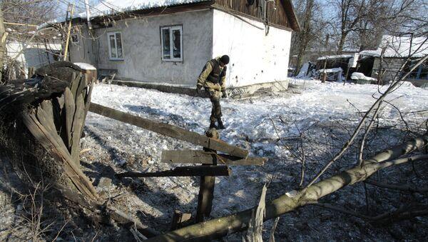 Následky ostřelování v Doněcké oblasti - Sputnik Česká republika