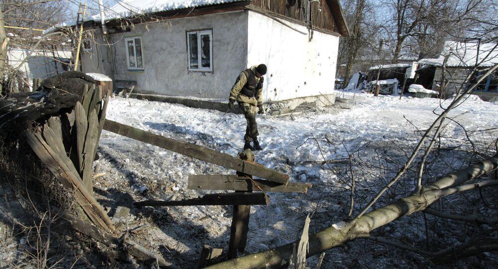 Následky ostřelování v Doněcké oblasti