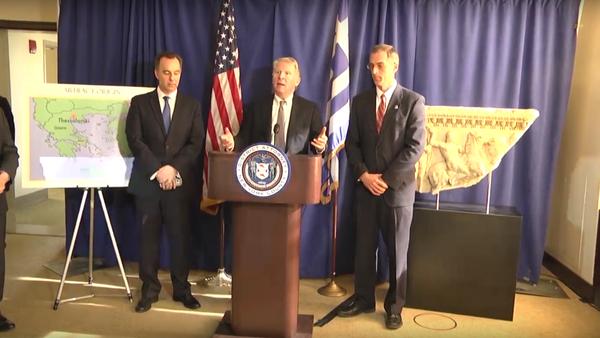 USA vrátily Řecku ukradený starobylý mramorový sarkofág - Sputnik Česká republika