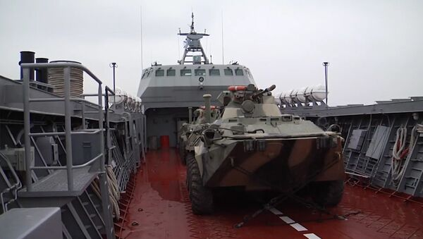 Bojový výcvik posádek výsadkových člunů Baltské flotily - Sputnik Česká republika
