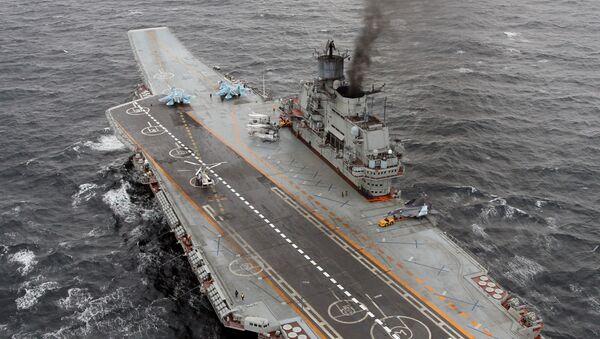 Těžký letadlový křižník ruského vojenského námořnictva Admirál Kuzněcov - Sputnik Česká republika
