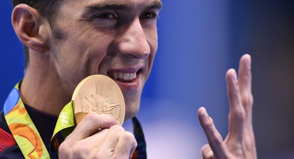 Olympijský šampion v plavání Michael Phelps