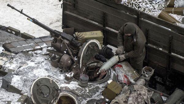 Ukrajinský voják v Avdějevce - Sputnik Česká republika