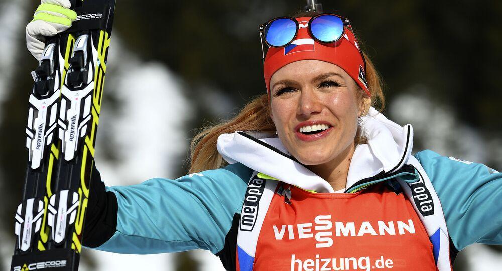 Česká biatlonistka Gabriela Koukalová