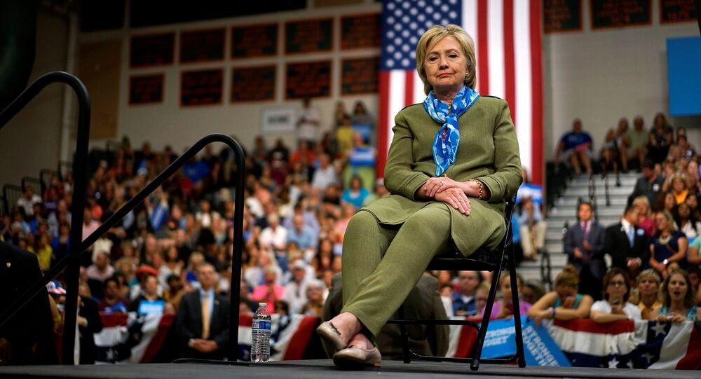 Kandidátka na funkci prezidenta USA za Demokratickou stranu Hillary Clintonová