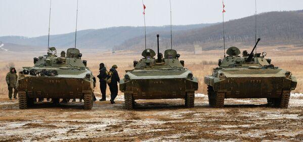 Celoarmádní soutěže Tankový batalion a Suvorovský útok - Sputnik Česká republika