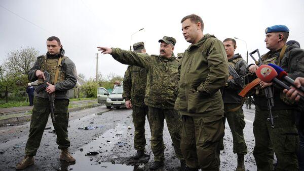 Lídr DLR Alexandr Zacharčenko v Doněcké oblasti - Sputnik Česká republika
