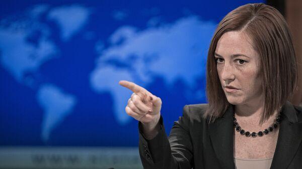 Bývalá ředitelka pro komunikaci v Bílém domě Jen Psakiová - Sputnik Česká republika