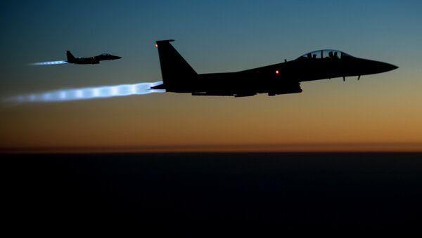 Americké stíhačky F-15. - Sputnik Česká republika