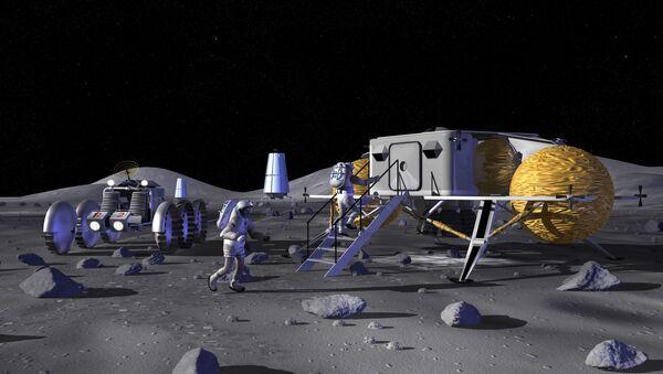 Základna na Měsíci. Ilustrace NASA - Sputnik Česká republika