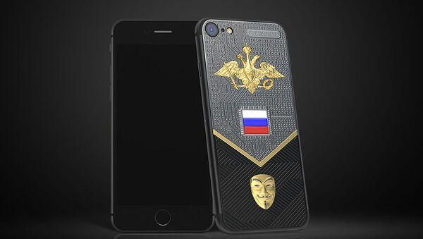 iPhone 7 na počest kybernetických vojsk ke Dni ochránce vlasti - Sputnik Česká republika