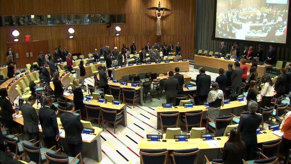 Minuta ticha na památku Čurkina na zasedání v OSN - Sputnik Česká republika