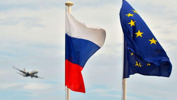 Vlajky RF a EU - Sputnik Česká republika