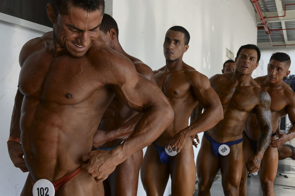 Soutěž v bodybuildingu v Kolumbii