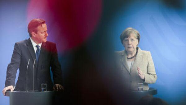 David Cameron a Angela Merkelová - Sputnik Česká republika