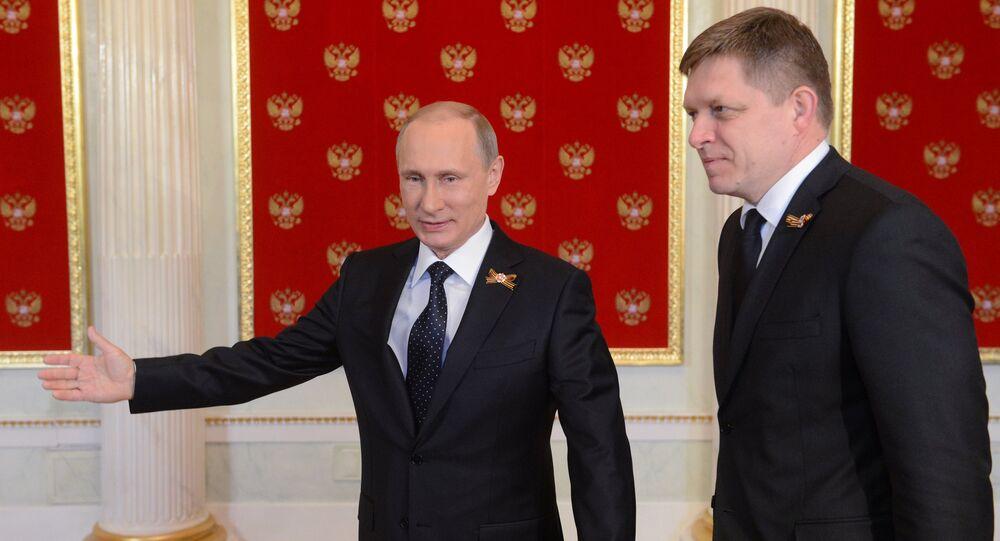 Setkání Vladimira Putina s Robertem Ficem