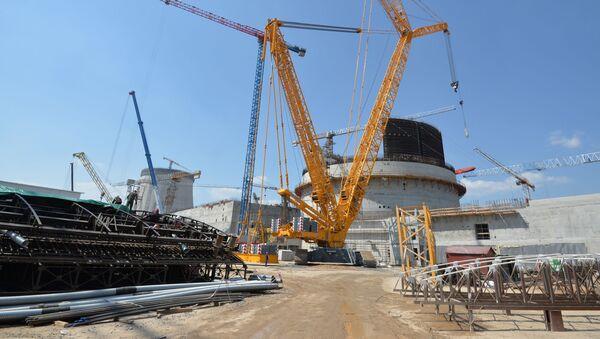 Budování Běloruské jaderné elektrárny - Sputnik Česká republika