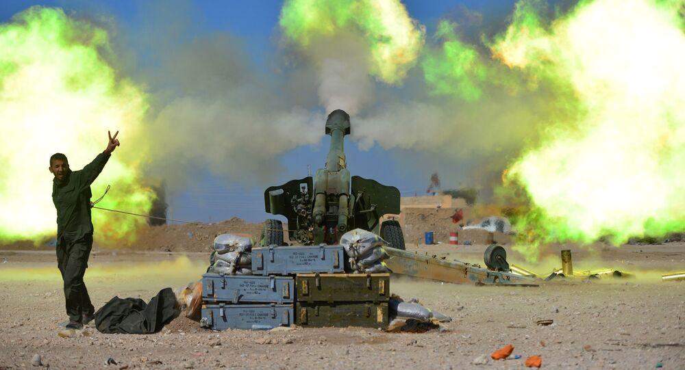Ostřelování pozic IS na západě Mosulu
