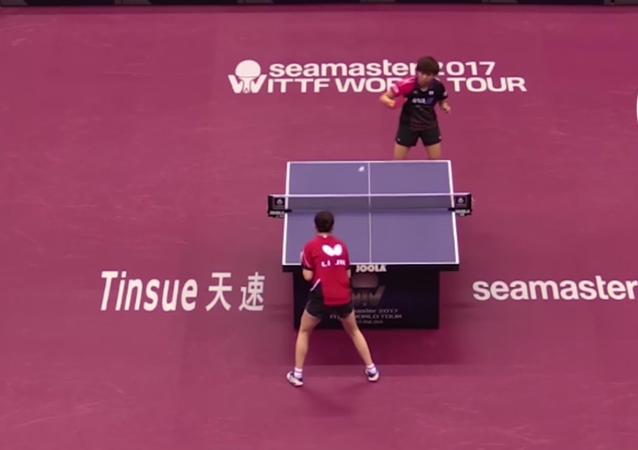 Tenistky vytvořily časový rekord v jedné pingpongové partii