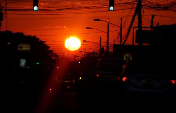 Západ slunce v San Jose, Kostarika - Sputnik Česká republika
