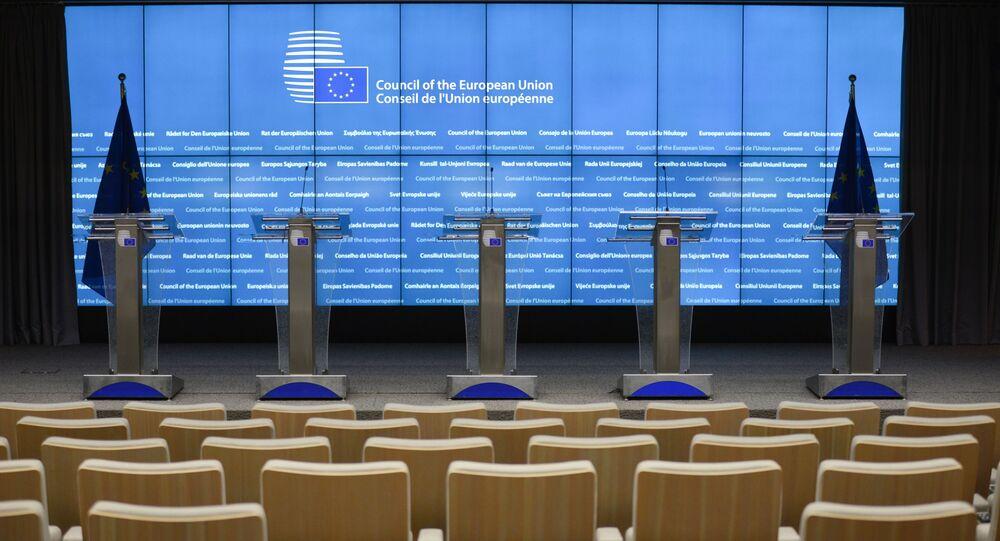 Zasedací sál Evropské komise. Ilustrační foto
