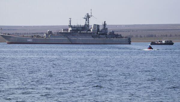 Loď ukrajinského vojenského námořnictva Konstantyn Olšanskij - Sputnik Česká republika