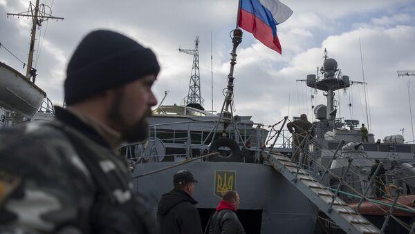 Ruská vlajka nad ukrajinskou korvetou - Sputnik Česká republika