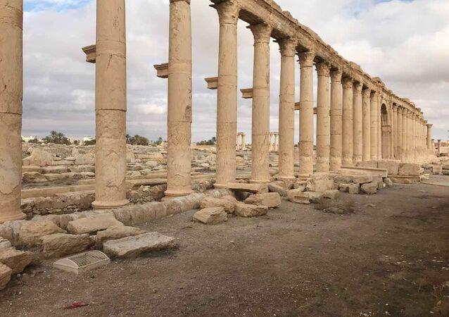 Trosky starobylé Palmýry