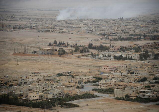 Pohled na centrální část moderní Palmýry