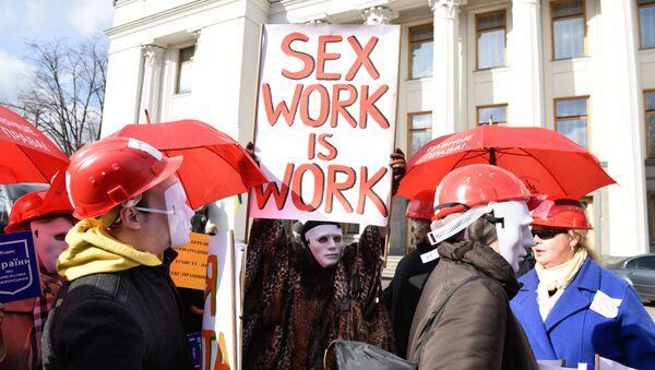 Průvod prostitutek pochodoval Kyjevem - Sputnik Česká republika
