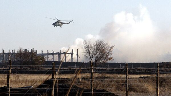 Vrtulník ukrajinské armády v Luhanské oblasti. Archivní foto - Sputnik Česká republika