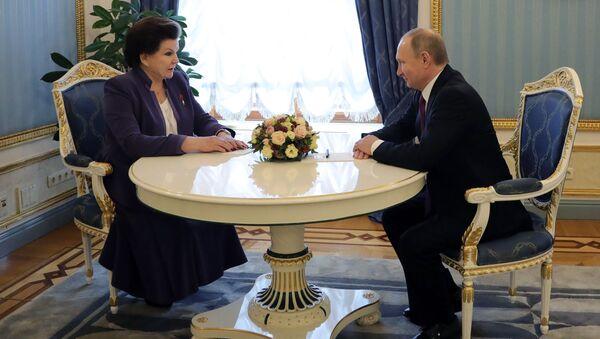 Putin poblahopřál Těreškovové k jubileu - Sputnik Česká republika